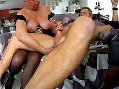 Mature amateur couple at home