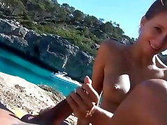 Awesome public anal couple