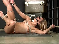 Shes Bound Up and Cant Break Free Writhing on the Floor