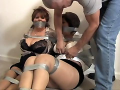Two mature women bound and gagged