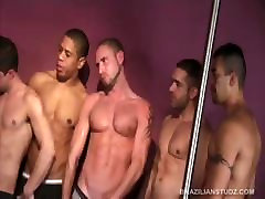 Seven Horny Latinos Gay Sex Orgy