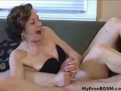 Femdom Handjob Cum Shot Compilation Nice bdsm bondage slave femdom domination