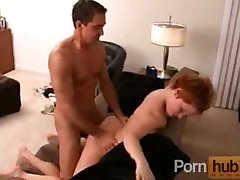 Amazing tight redhead babe fucks and does 69