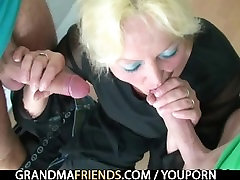 Perverted old teacher takes two cocks