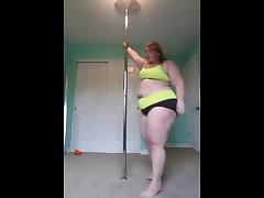 Sexy bbw pole dance