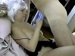 Mature cougar takes hubbys load