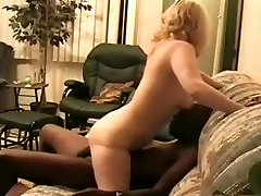 Amatory blond cougar fucks black dick and has cuckhub clean