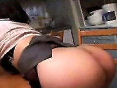 Bodacious Asian chick shows off her fine ass while taking i