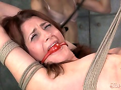 Belted down kinky hottie had hard BDSM sex with her wanton kooky