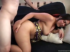 White dawg doggy fucks chubby Indian sex pot greedily