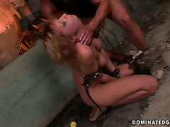 X-rated BDSM scene featuring raunchy harlot Gabriella crying with pain and pleasure