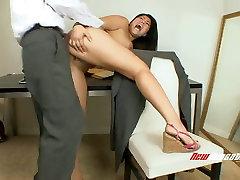 Alluring Asian bitch London Keys gets her snatch banged hard