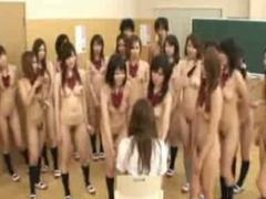 Naked in school students force new girl to strip