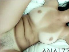 Skanky gf Dillion Harper analed and facialed on tape