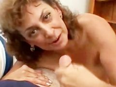 Mouth fucked mature slut POV