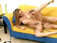 Busty blonde babe Scarlett Pains blows him and then gets nailed