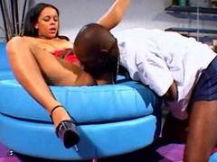 Busty Hot Ebony With Nice Tits Pussy Licked