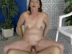 Horny housewife going crazy riding