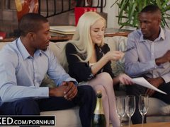 BLACKED First Interracial Threesome For Blonde Naomi Woods