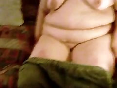 Lynne Showing her Mature BBW Body on my Couch