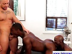 Muscled ebony gays rimming and sucking