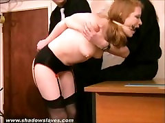 Tied Madison Youngs domination and painful submission