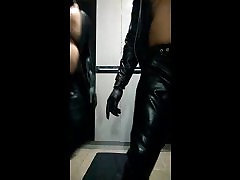 Testing the taste of leather of my male