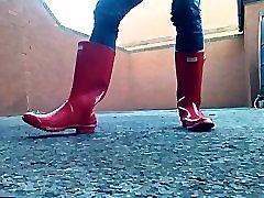 Gloss Red Hunter Wellies
