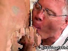 Gay twink bondage massage and white male bondage Mark is suc