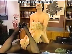 Dana Lynn, Nina Hartley, Ray Victory in vintage porn scene