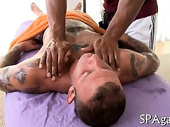Steamy hawt massage session for lewd gay stud