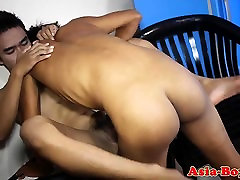 Asian twink rimming tight amateur ass