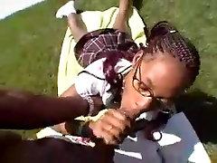 Ebony Blowjob Teen