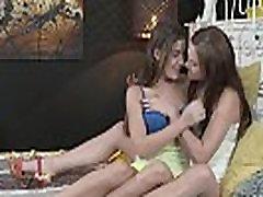 Hot lesbian teens like sixty nine in bed