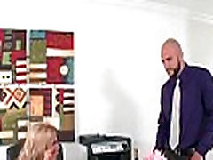 Big tit secretary gets her boobs in charge 22