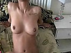 Cock enters black fur pie on closeup