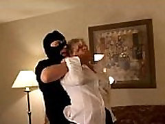 Milf is tied up, gagged and forced to Fuck on Couch