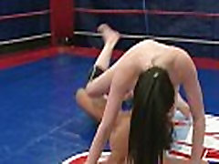 Curvy babes wrestling and pussytoying