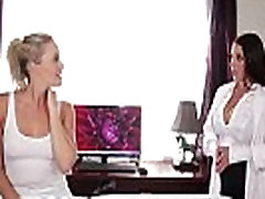Huge natural tits seducing the lesbian worker - Mia Malkova, Angela White