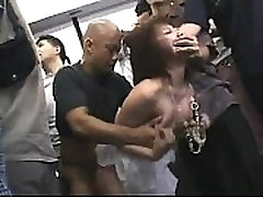 Japanese schoogirl gangbanged in the subway - TEENCAM777.COM