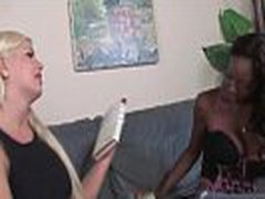 Ebony Lesbian Teen Fuck Her White Frined In The Ass With Strapon Toy 05