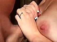 Cumming on her Beautiful Mature Tits