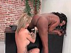 Ebony Lesbian Teen Fuck Her White GF With Big Strapon Toy 16