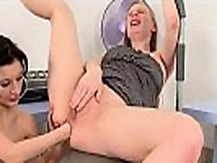 Naughty lesbian honeys are spreading and fist fucking anals