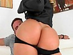 Nice butt MILF Cec gets scooped and works a cock for cum