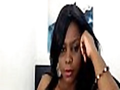 Ebony Boos busty webcam model - dildo titfuck