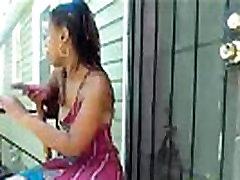 Ebony outside videochat
