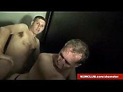 Daddy Gangbanged in Dark Room