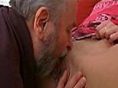Kinky young hotty enjoys old boner