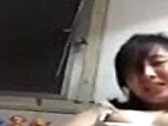 Asian girl has Phone Sex on Cam with Stranger - FreeAsianCamgirl.com